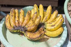 Banana at market in Indonesia Stock Images