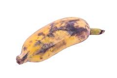 Banana matura su fondo bianco Fotografie Stock Libere da Diritti