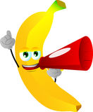 Banana with megaphone Stock Images