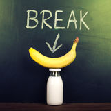 Banana and milk Royalty Free Stock Images