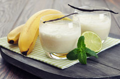 Banana milk shake Royalty Free Stock Photography