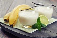 Banana milk shake Royalty Free Stock Photography