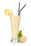 Banana milk smoothie Royalty Free Stock Photography