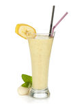 Banana milk smoothie Stock Photo