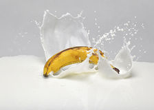 Banana milk splash Royalty Free Stock Photos
