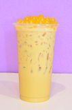 Banana milk tea Stock Photo