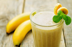 Banana milkshake Stock Images