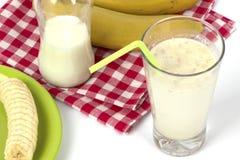 Banana milkshake Stock Photos