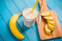 Banana milkshake Royalty Free Stock Image