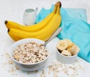 Banana and muesli Stock Images