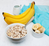 Banana and muesli Royalty Free Stock Images