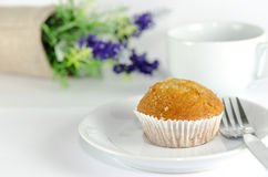Banana muffin cake Royalty Free Stock Photo