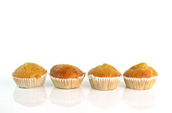 Banana muffin cake on white background Royalty Free Stock Photography