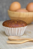 Banana muffin cake Stock Image