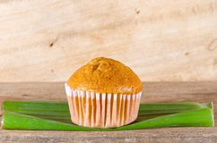 Banana muffin cake Stock Images