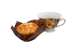 Banana muffin with a cup Stock Photo