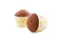 Banana muffin cupcake on white Royalty Free Stock Image