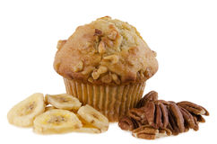 Banana Muffin. Isolated on white background Stock Photography