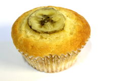Banana muffin, isolated on white background. Stock Photography