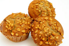 Banana Muffin With Waluts Stock Photos