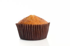 Banana muffin on a white Royalty Free Stock Image