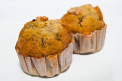 Banana muffins Stock Photo