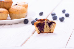 Banana muffins with blueberry Stock Photo
