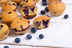 Banana muffins with blueberry Stock Image