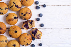 Banana muffins with blueberry Royalty Free Stock Photo