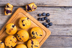 Banana muffins with blueberry Royalty Free Stock Photography