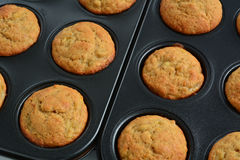 Banana muffins Stock Photos