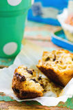 Banana muffins with slices of chocolate Royalty Free Stock Image
