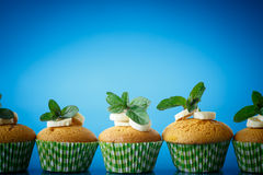 Banana muffins Stock Photos