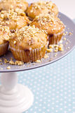 Banana muffins with walnuts and white chocolate Royalty Free Stock Photography