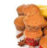 Banana muffins Stock Image