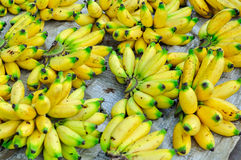 Banana nel mercato Fotografia Stock