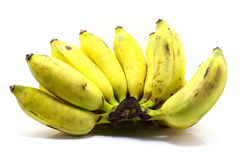 Banana no branco Imagens de Stock