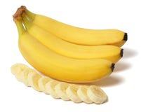 Banana no branco Foto de Stock