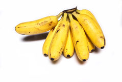 Banana no fundo branco Foto de Stock Royalty Free
