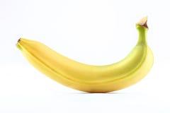 Banana no fundo branco Fotos de Stock