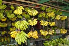 Banana no mercado imagens de stock royalty free