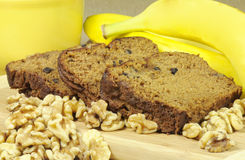 Banana nut bread Royalty Free Stock Image