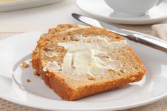 Banana nut bread Stock Images