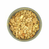 Banana and nut granola cereal in bowl Stock Image