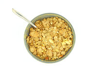 Banana and nut granola cereal with spoon Stock Photography