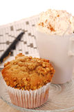 Banana nut muffin Stock Photography