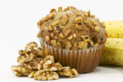 Banana Nut Muffin Stock Image