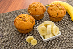 Banana nut muffins Royalty Free Stock Photo