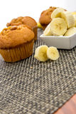 Banana nut muffins Royalty Free Stock Image