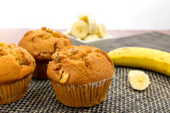 Banana nut muffins Royalty Free Stock Photography